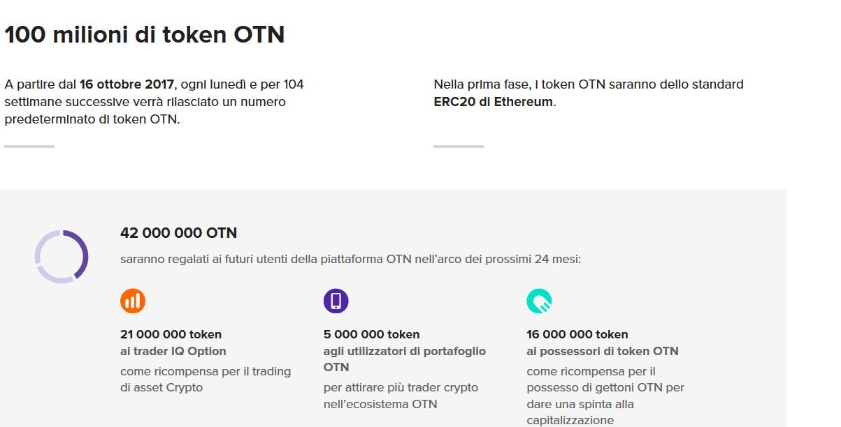 distribuzione token OTN