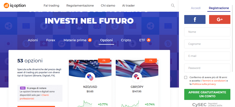 trading opzioni