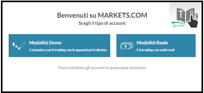 markets.com modalità demo