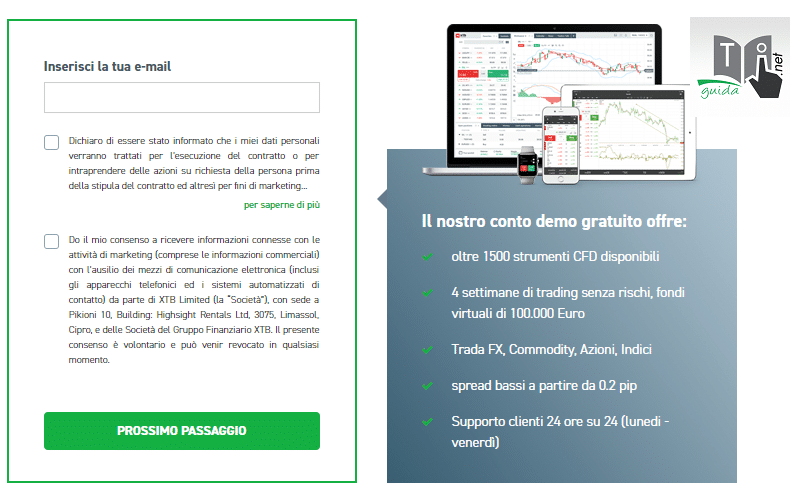 demo di XTB dati