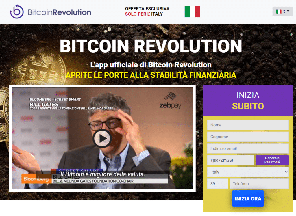 Home page Bitcoin Revolution