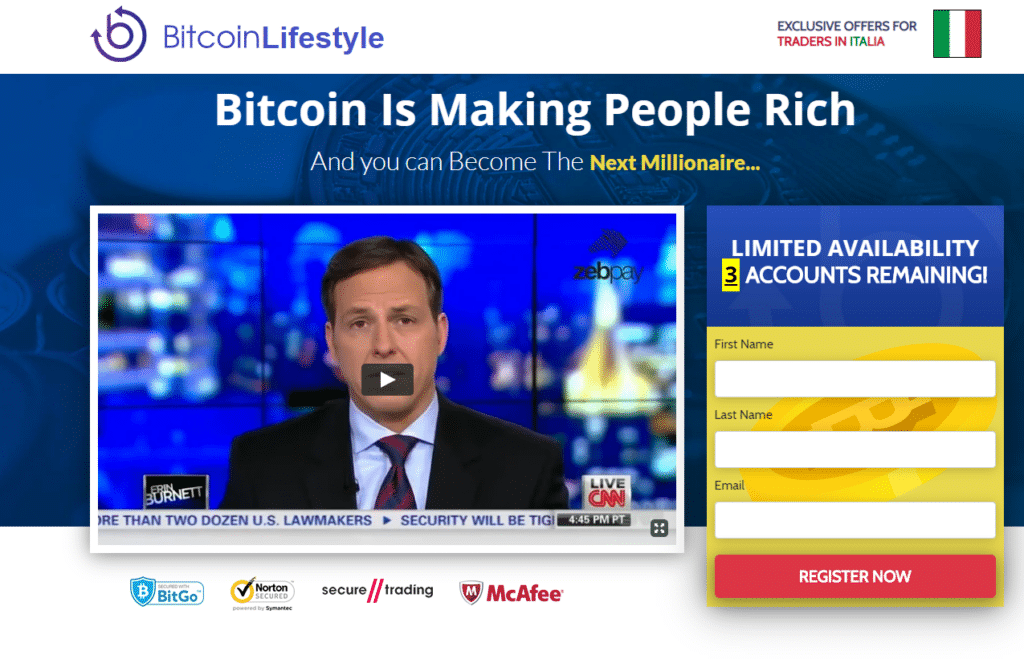 Bitcoin Lifestyle home page