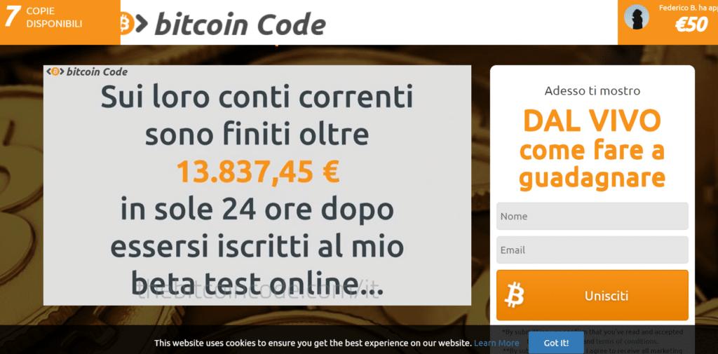 Bitcoin code truffa o funziona