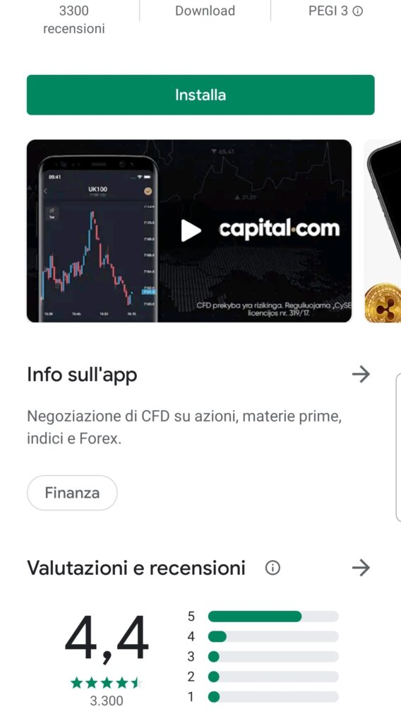 opinioni app capital.com