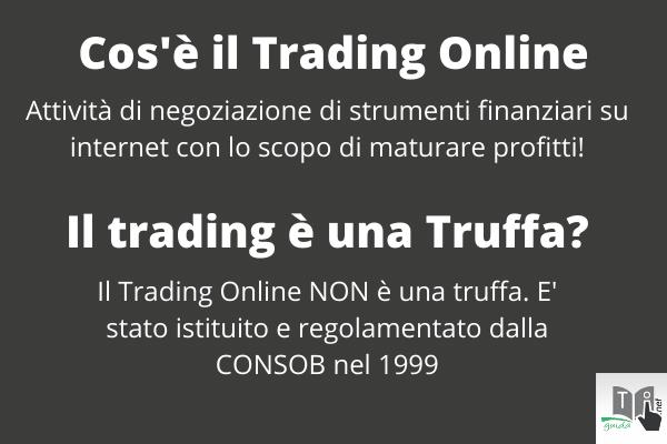 Cos'è il Trading Online? E' una truffa? Infografica di GuidaTradingOnline.net.