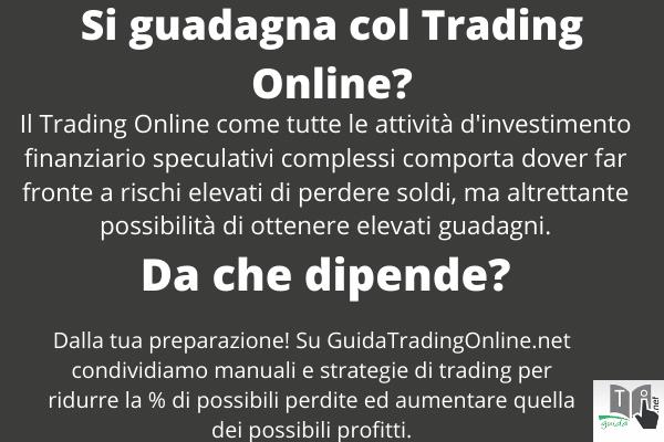 Si guadagna con il Trading On Line e da che dipende? Infografica di GuidaTradingOnline.net.