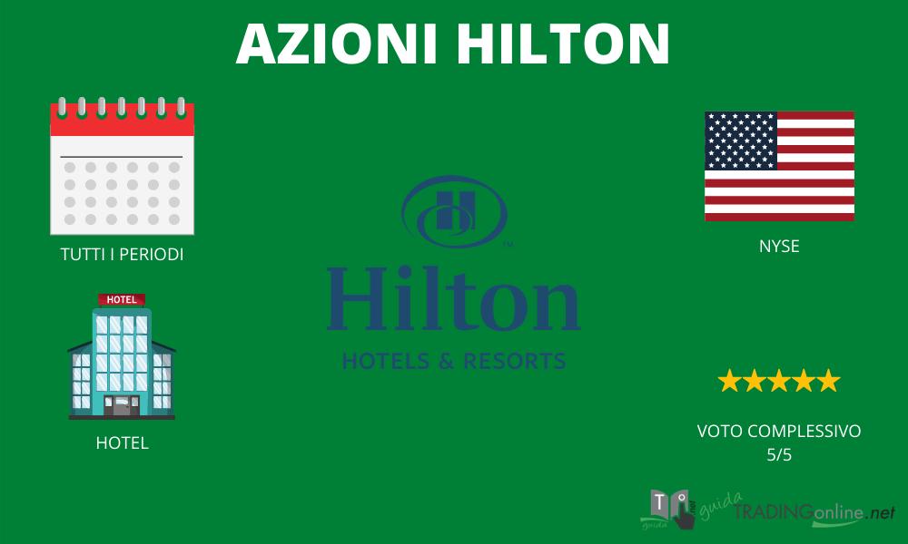 Azioni Hilton riassunto infografica